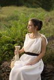 Greek girl with vase Royalty Free Stock Photos