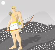 Greek god Apollo. A Illustration drawing of the Greek god Apollo. He was the god of prophecy, music, and healing Stock Images