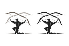 Greek God Apollo. Illustration of the Greek God Apollo bearing a bow and arrow Stock Images