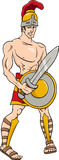 Greek god ares cartoon illustration Royalty Free Stock Photography
