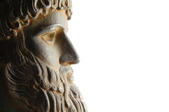 Greek god in profile Royalty Free Stock Photography