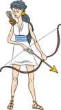 Greek goddess artemis cartoon Royalty Free Stock Photo