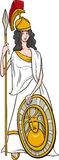 Greek goddess athena cartoon Royalty Free Stock Photos