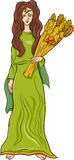 Greek goddess demeter cartoon Royalty Free Stock Photos