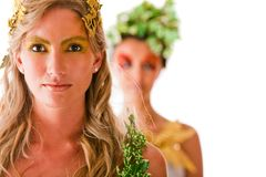 Greek goddesses Royalty Free Stock Photography
