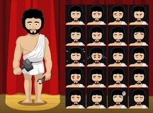 Greek Gods Hephaestus Costume Cartoon Emotion faces Vector Illustration Royalty Free Stock Photo