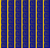 Greek gold and blue pattern Royalty Free Stock Image