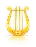 Greek golden lyre. Illustration isolated on white background Royalty Free Stock Images