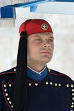 Greek guard in Athens, Greece Royalty Free Stock Image