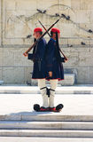 Greek guards in Athens Royalty Free Stock Images