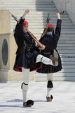 Greek guards in Athens, Greece Stock Images