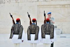 Greek Presidential guard  Royalty Free Stock Images