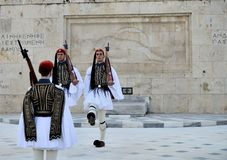 Greek Presidential guards Royalty Free Stock Image