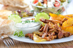 Greek gyros Royalty Free Stock Image