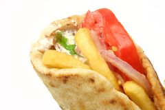 Greek gyros kebap Royalty Free Stock Photos