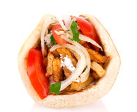 Greek gyros pita Stock Image