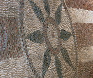 Greek hand made stone floor. Original hand made stone floor in Lindos, Rhodes Stock Photo