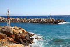Greek harbour Royalty Free Stock Photos