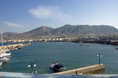 Greek harbour view Stock Photography
