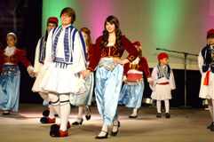 Greek Helenic Youth Dancers Royalty Free Stock Photography