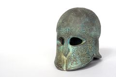 Greek helmet Royalty Free Stock Image