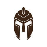 Greek Helmet. Simple Greek Helmet , vector illustration Royalty Free Stock Photo