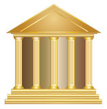Greek historic bank building gold Royalty Free Stock Photography