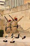Greek honor guard Stock Photos