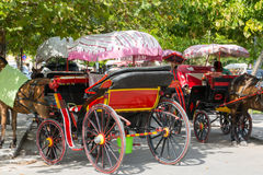 Greek Horse Cart Royalty Free Stock Image