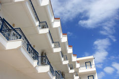 Greek hotel, Corfu. The building in Greek hotel Royalty Free Stock Photos