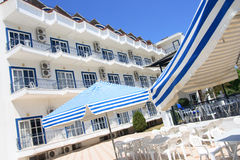 Greek hotel, Corfu. The court of Greek hotel Stock Image