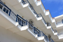 Greek hotel, Corfu. Building in a Greek hotel Stock Photo