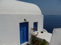 Greek house. Beautiful greek house in Santorini, Cyclades Royalty Free Stock Photo
