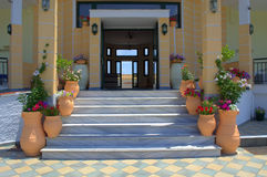 Greek house entrance Royalty Free Stock Photography