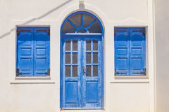 Greek house facade Royalty Free Stock Photo