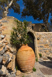 Greek house at Monemvasia Stock Photo