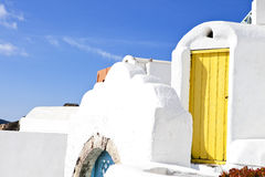 Greek House at Santorini Stock Image