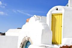 Greek House at Santorini. A Greek House at Santorini Stock Image