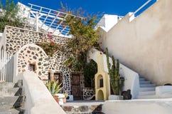 Greek house on the Santorini island Stock Photo