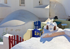Greek house on Santorini Stock Photos