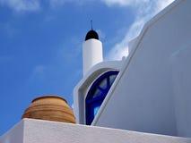 Greek house top Stock Photos