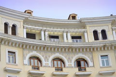 Greek house top floor decoration Stock Images