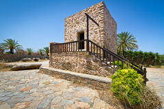 Greek house in the village of Lasithi Plateau. Small Greek house in the village of Lasithi Plateau, Crete Stock Photography