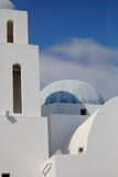 Greek houses. Detail of some greek houses with white colors royalty free stock photo