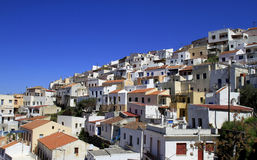 Greek houses in Ioulis, capital of Kea Island Royalty Free Stock Photo