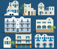 Greek houses. Vector illustration of simple greek houses (orient style Stock Photo