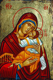 Greek icon. Antique orthodox paint called icon, Rhodes, greece royalty free stock images