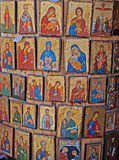 Greek icons. For buy on a street stand, Rhodes Island, Greace Stock Photos