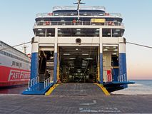 Greek Inter Island Ferry, Rafina Port Stock Images