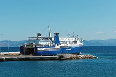 Greek Inter Island Ferry Royalty Free Stock Photos